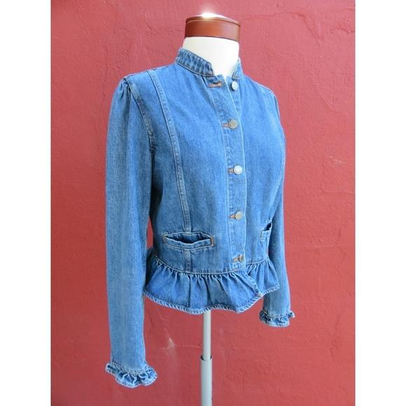 GAP Jackets & Blazers - GAP Trending Ruffle Frill Denim Fall Jean Jacket